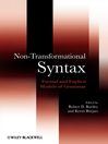 Non-Transformational Syntax (eBook): Formal and Explicit Models of Grammar