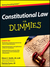 Constitutional Law For Dummies (eBook)