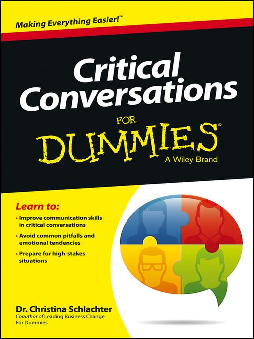 Critical Conversations For Dummies (eBook)