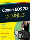 Canon EOS 7D For Dummies (eBook)