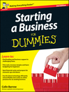 Starting a Business For Dummies, UK Edition (eBook)