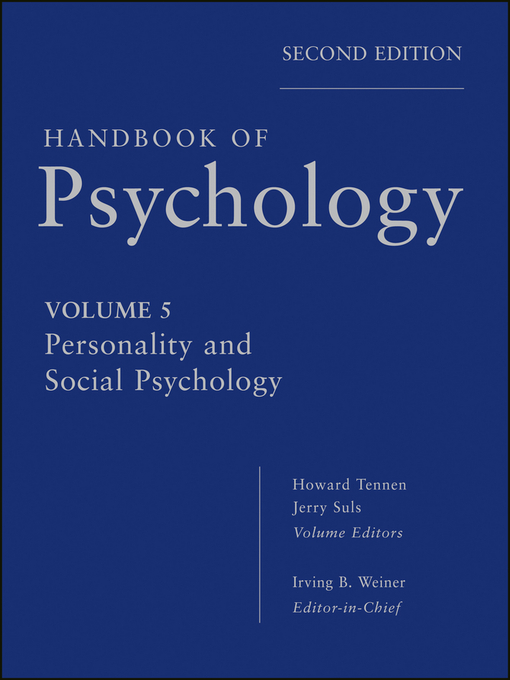 Handbook of Psychology, Personality and Social Psychology (eBook)