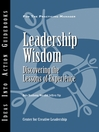 Leadership Wisdom (eBook): Discovering the Lessons of Experience