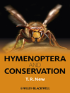 Hymenoptera and Conservation (eBook)