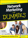 Network Marketing For Dummies (eBook)