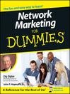 Network Marketing For Dummies (eBook)