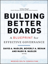 Building Better Boards (eBook): A Blueprint for Effective Governance