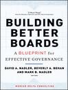 Building Better Boards (eBook): A Blueprint for Effective Governance
