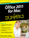 Office 2011 for Mac For Dummies (eBook)
