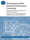 Governance in the Twenty-First-Century University (eBook): Approaches to Effective Leadership and Strategic Management: ASHE-ERIC Higher Education Report