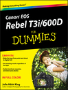 Canon EOS Rebel T3i / 600D For Dummies (eBook)