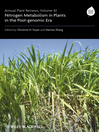 Annual Plant Reviews, Nitrogen Metabolism in Plants in the Post-genomic Era (eBook)