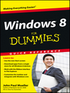 Windows 8 For Dummies Quick Reference (eBook)