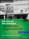 The Law of Tax-Exempt Healthcare Organizations (eBook)
