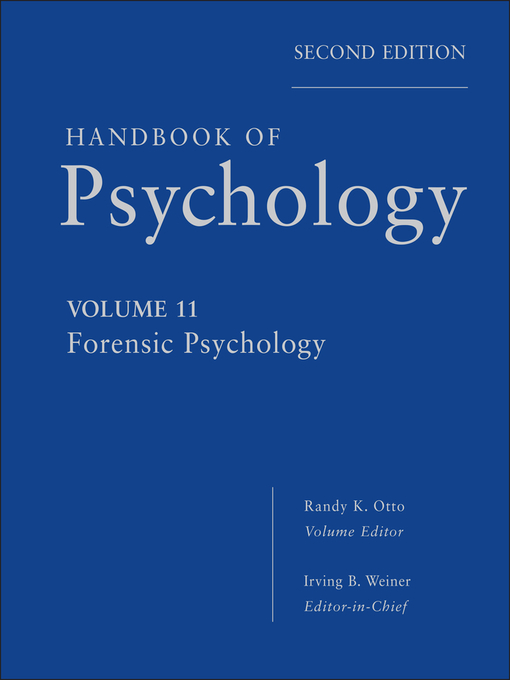 Handbook of Psychology, Forensic Psychology (eBook)