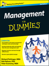 Management For Dummies (eBook)