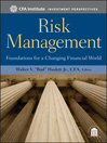 Risk Management (eBook): Foundations For a Changing Financial World