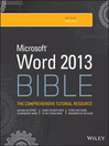 Word 2013 Bible (eBook)