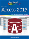 Teach Yourself VISUALLY Access 2013 (eBook)