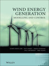 Wind Energy Generation (eBook): Modelling and Control