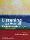 Listening and Human Communication in the 21st Century (eBook)
