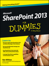 SharePoint 2013 For Dummies (eBook)