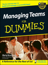 Managing Teams For Dummies (eBook)