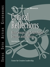 Critical Reflections (eBook): How Groups Can Learn from Success and Failure