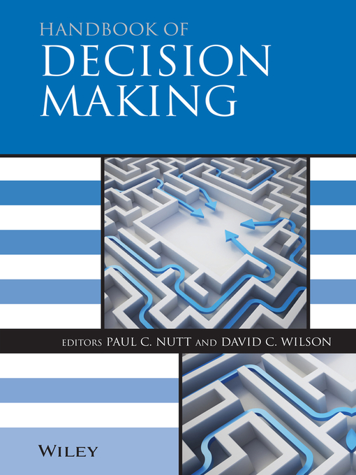 Handbook of Decision Making (eBook)