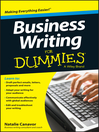 Business Writing For Dummies (eBook)
