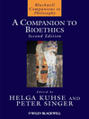 A Companion to Bioethics (eBook)