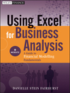 Using Excel for Business Analysis (eBook): A Guide to Financial Modelling Fundamentals