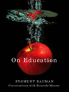 On Education (eBook): Conversations with Riccardo Mazzeo