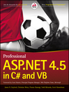 Professional ASP.NET 4.5 in C# and VB (eBook)