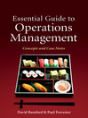 Essential Guide to Operations Management (eBook): Concepts and Case Notes