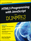 HTML5 Programming with JavaScript For Dummies (eBook)