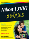 Nikon 1 J1/V1 For Dummies (eBook)