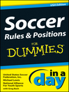 Soccer Rules and Positions In a Day For Dummies (eBook)