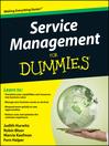 Service Management For Dummies (eBook)