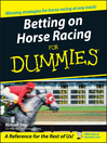 Betting on Horse Racing For Dummies (eBook)