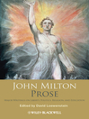 John Milton Prose (eBook): Major Writings on Liberty, Politics, Religion, and Education