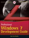 Professional Windows 7 Development Guide (eBook)