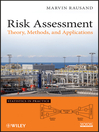 Risk Assessment (eBook): Theory, Methods, and Applications