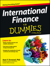 International Finance For Dummies (eBook)