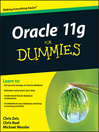 Oracle 11g For Dummies® (eBook)