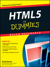 HTML5 For Dummies Quick Reference (eBook)