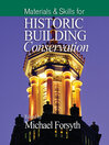 Materials and Skills for Historic Building Conservation (eBook)