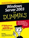 Windows Server 2003 For Dummies (eBook)