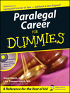 Paralegal Career For Dummies (eBook)