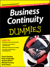 Business Continuity For Dummies (eBook)
